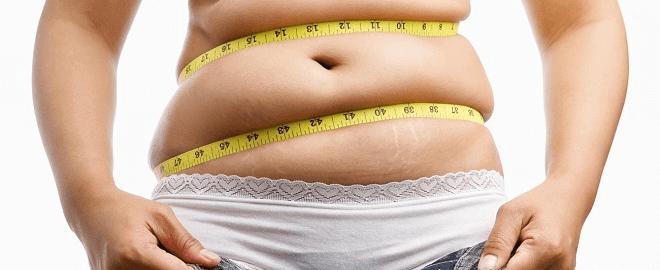 жир на животе