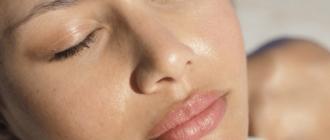 жирный блеск на лице