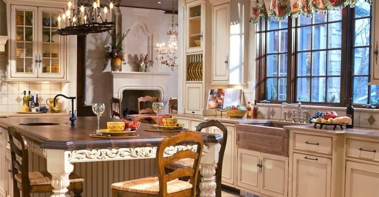 Кухня в английском стиле интерьера