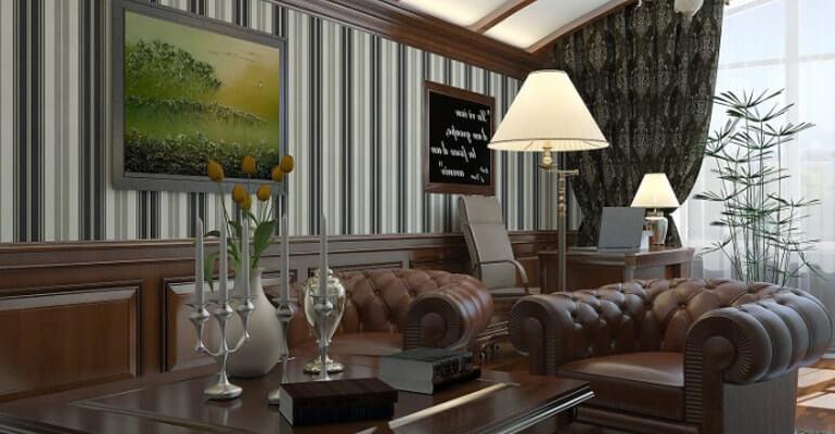 Английский стиль интерьера в гостиной