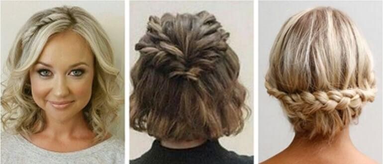 прически на средние волосы в домашних условиях